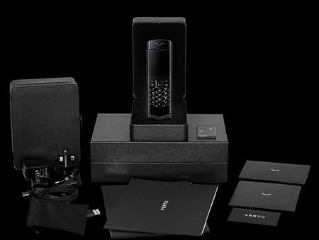Комплектация телефона Vertu Signature S Design Clous De Paris Pure Black