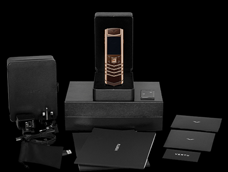 Комплектация телефона Vertu Signature S Design Red Gold Brown Exclusive