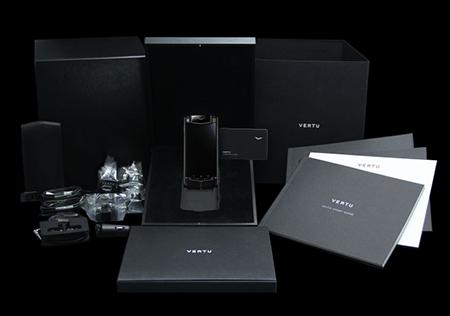 Комплектация телефона Vertu Ti Titanium Pure Black