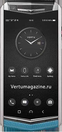 Телефон Vertu Aster P Baroque Gentleman Blue Calf