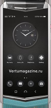 Телефон Vertu Aster P Baroque Powder Blue Calf