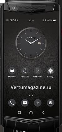 Телефон Vertu Aster P Gothic Jade Black Alligator