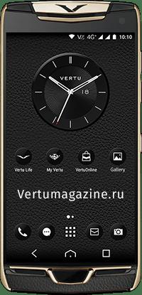 Телефон Vertu Constellation X Agate Black Red Gold