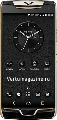 Телефон Vertu Constellation X Alligator Black Red Gold