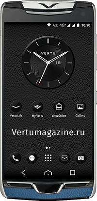 Телефон Vertu Constellation X Gray Blue