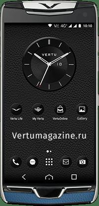 Телефон Vertu Contellation X Gray Blue