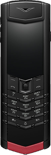 Телефон Vertu Signature S Design Pure Black Red Leather Russian