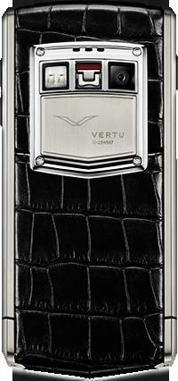 Телефон Верту Ti Titanium Black Alligator