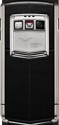 Телефон Верту Ti Titanium Black Leather