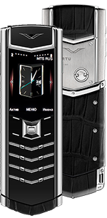 Купить Vertu (Верту) Signature S Design Black Alligator Russian