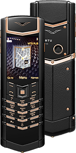 Vertu Signature S Design Pure Black Red Gold Russian