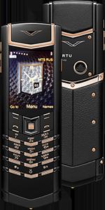 Vertu Signature S Design Pure Black Red Gold Russian