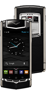 Vertu Ti Titanium Black Leather